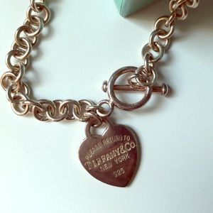 Tiffany's Vintage 90s Heart Necklace